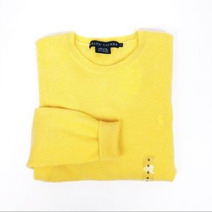 Ralph Lauren | Yellow Cashmere Crew Neck Sweater